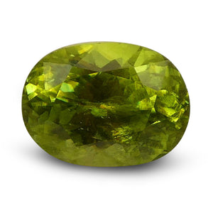 Sphene (Titanite) 1.79 cts 8.38x6.19x4.76mm Oval Yellowish Green  $70