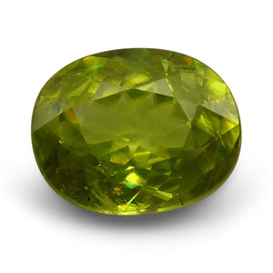 Sphene (Titanite) 2.11 cts 8.82x7.14x4.32mm Oval Yellowish Green  $85
