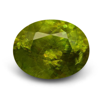 Sphene (Titanite) 3.25 cts 10.53x8.25x5.33mm Oval Yellowish Green  $130