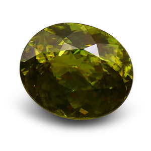 Sphene (Titanite) 2.33 cts 8.77x7.43x4.91mm Oval Yellowish Green  $95
