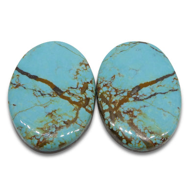 41.25ct Pair Number 8 Mine Turquoise Oval Cabochon