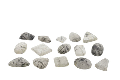 821 cts 15 st Cabochon Tourmalated Quartz WHOLESALE LOT