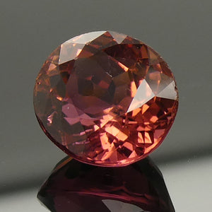 2.71ct Oval Orangy Red Tourmaline - Skyjems Wholesale Gemstones