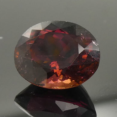 3.47ct Oval Red Rubellite Tourmaline - Skyjems Wholesale Gemstones