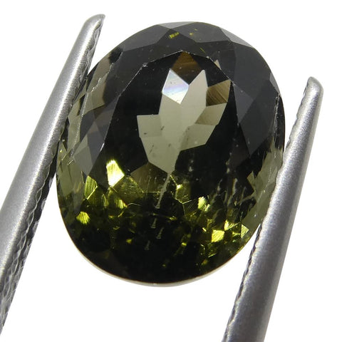 3.84ct Oval Olive Green Tourmaline