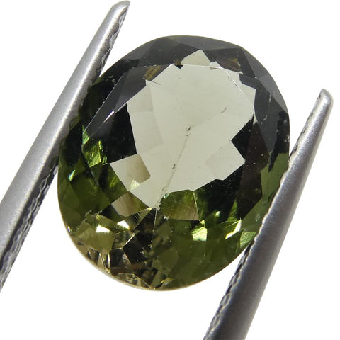 3.09ct Oval Olive Green Tourmaline