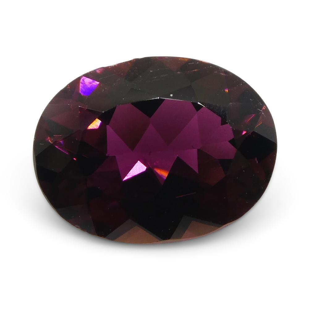 1.37ct Oval Reddish Purple Rubelite Tourmaline