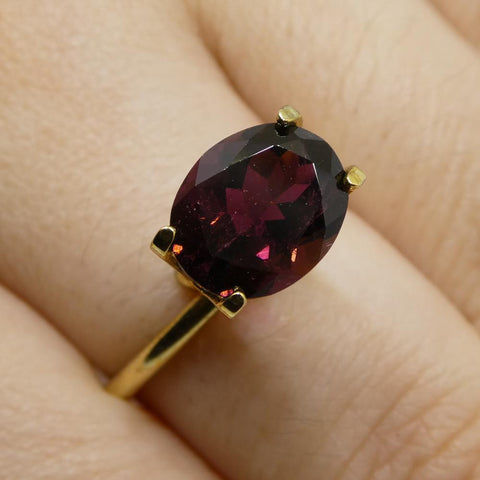2.72ct Oval Reddish Purple Rubelite Tourmaline