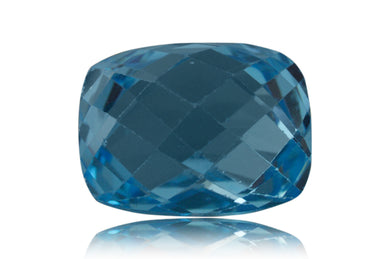 17 ct Genuine 16 x 12 mm Cushion-Checkerboard Cut Sky Blue Topaz Natural Gem