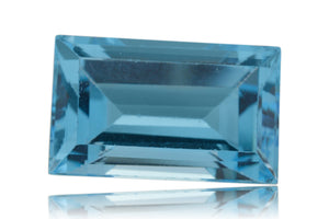 12 ct Genuine 16 x 10 mm Emerald Cut Sky Blue Topaz Natural Gem