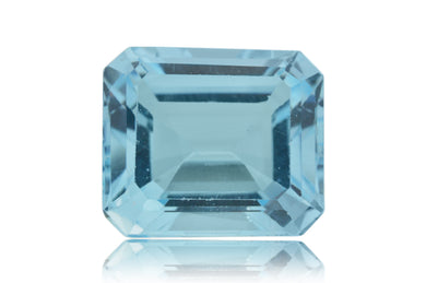 13 ct Genuine 14 x 12 mm Emerald Cut Sky Blue Topaz Natural Gem