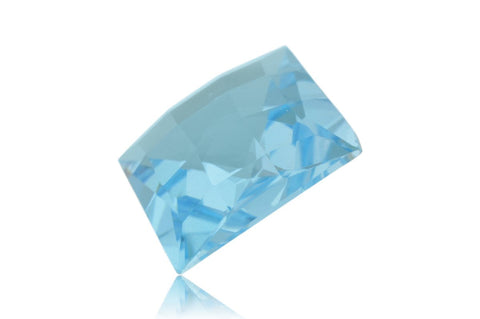 13ct Genuine 14x14mm Square Checkerboard Cut Sky Blue Topaz Natural Gem