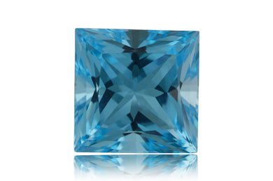 16 ct Genuine 14 x 14 mm Square Cut Sky Blue Topaz Natural Gem