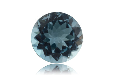 11 ct Genuine 14 x 14 mm Round Cut Sky Blue Topaz Natural Gem