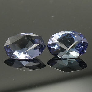 1.55ct Oval Tanzanite Precision Cut Pair - Skyjems Wholesale Gemstones
