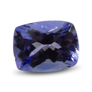 2.77 ct Cushion Tanzanite IGI Certified with Inscription