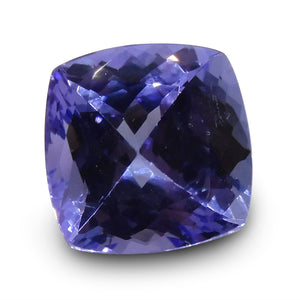 3.44 ct Cushion Tanzanite IGI Certified with Inscription