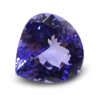 2.50 ct Pear Tanzanite IGI Certified with Inscription