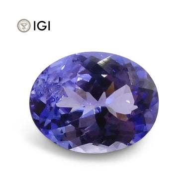1.92 ct Oval IGI Certified Tanzanite - Skyjems Wholesale Gemstones