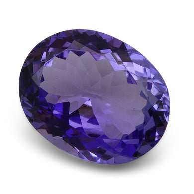 6.20 ct - Oval IGI Certified Tanzanite with Inscription