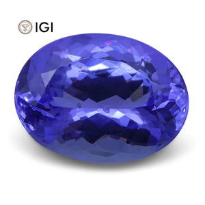 3.46 ct Oval Tanzanite IGI Certified With Laser Inscription - Skyjems Wholesale Gemstones