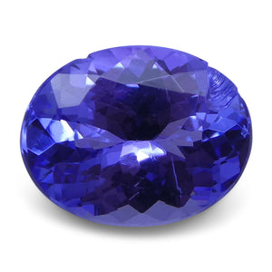 1.84 ct Oval Tanzanite IGI Certified With Laser Inscription