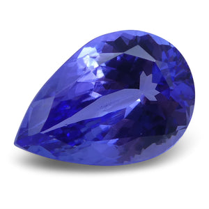 3.73 ct Pear Tanzanite IGI Certified With Laser Inscription