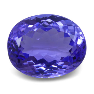 3.43 ct Oval Tanzanite IGI Certified With Laser Inscription
