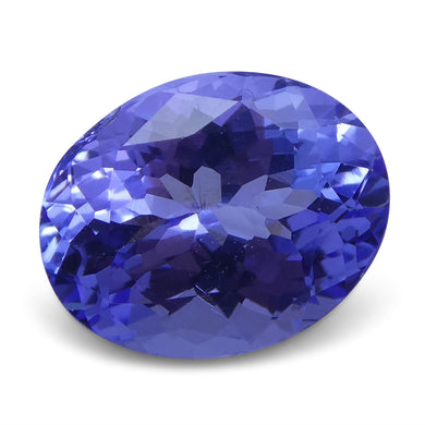 2.48 ct Oval Tanzanite IGI Certified With Laser Inscription