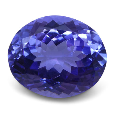 4.17 ct Oval Tanzanite IGI Certified With Laser Inscription