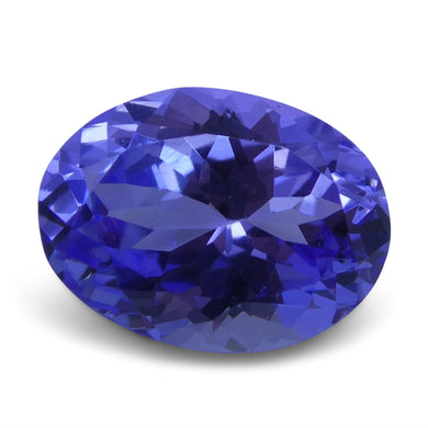 3.44 ct Oval Tanzanite IGI Certified With Laser Inscription