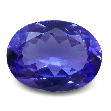2.39 ct Oval Tanzanite IGI Certified With Laser Inscription