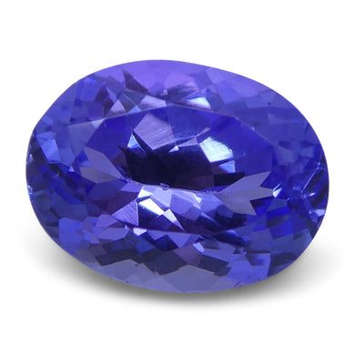 2.10 ct Oval Tanzanite IGI Certified With Laser Inscription