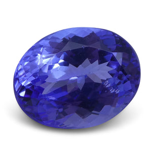 2.91 ct Oval Tanzanite IGI Certified With Laser Inscription