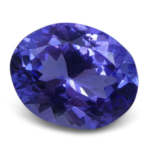 3.23 ct Oval Tanzanite IGI Certified With Laser Inscription