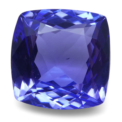 2.68 ct Cushion Tanzanite IGI Certified With Laser Inscription