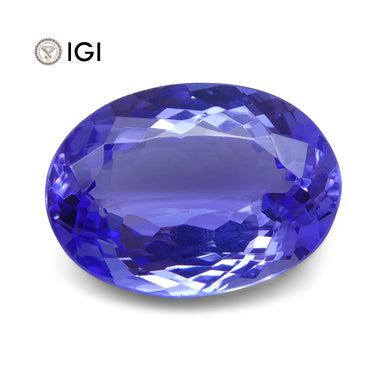 4.26 ct Oval Tanzanite IGI Certified With Laser Inscription - Skyjems Wholesale Gemstones