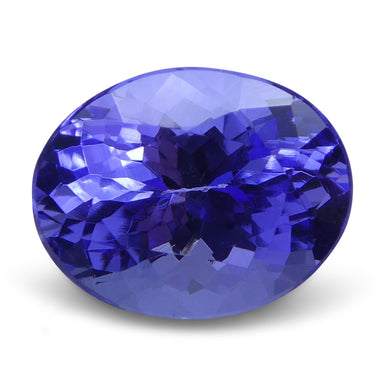 2.67 ct Oval Tanzanite IGI Certified With Laser Inscription