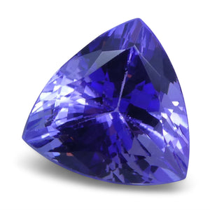 2.69 ct Triangle Tanzanite IGI Certified With Laser Inscription