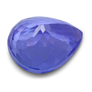 2.70 ct Pear Tanzanite IGI Certified With Laser Inscription