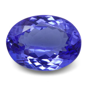 3.84 ct Oval Tanzanite IGI Certified With Laser Inscription