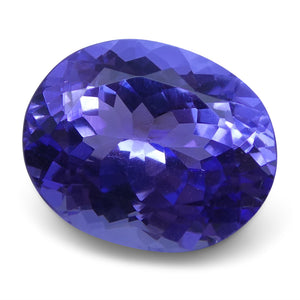 3.19 ct Oval Tanzanite IGI Certified With Laser Inscription