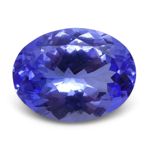 2.96 ct Oval Tanzanite IGI Certified With Laser Inscription