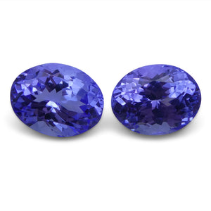 Tanzanite 4.43 cts 8.97x7.05x4.98 mm and 8.67x6.82x5.39mm Oval Purplish Blue $890