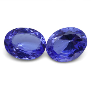 Tanzanite 5.2 cts 9.89x7.60x4.30 mm and 10.02x7.91x5.09 mm Oval Purplish Blue $1040