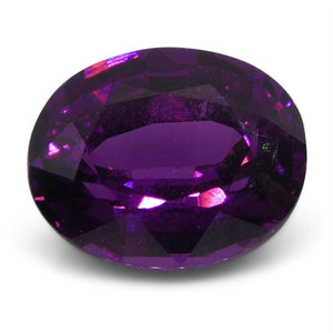 2.71 ct Rhodolite Garnet Oval Fine Purple (Umbalite) - Skyjems Wholesale Gemstones