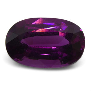 2.59 ct Rhodolite Garnet Oval Fine Purple (Umbalite) - Skyjems Wholesale Gemstones