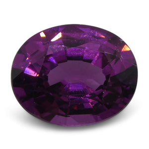 1.76 ct Rhodolite Garnet Oval Fine Purple (Umbalite) - Skyjems Wholesale Gemstones