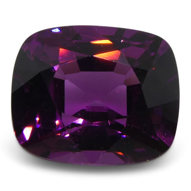 Rhodolite Garnet 1.39 cts 6.85x5.71x3.85mm Cushion Purple  $210