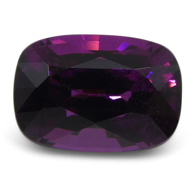 1.85 ct Rhodolite Garnet Cushion Fine Purple (Umbalite) - Skyjems Wholesale Gemstones